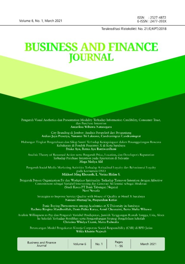 View Vol. 6 No. 1 (2021): Business and Finance Journal