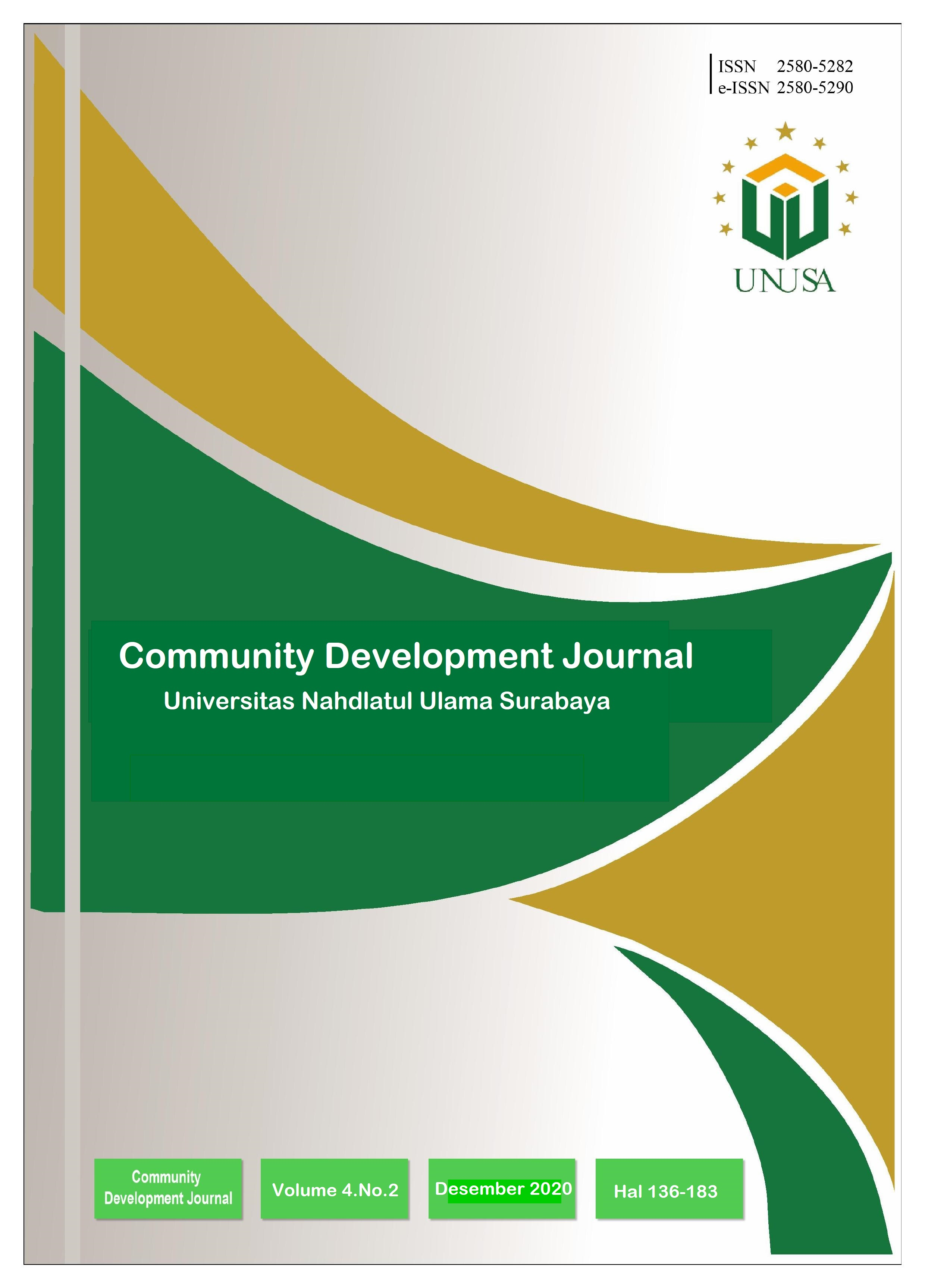 View Vol. 4 No. 2 (2020): Community Development Journal