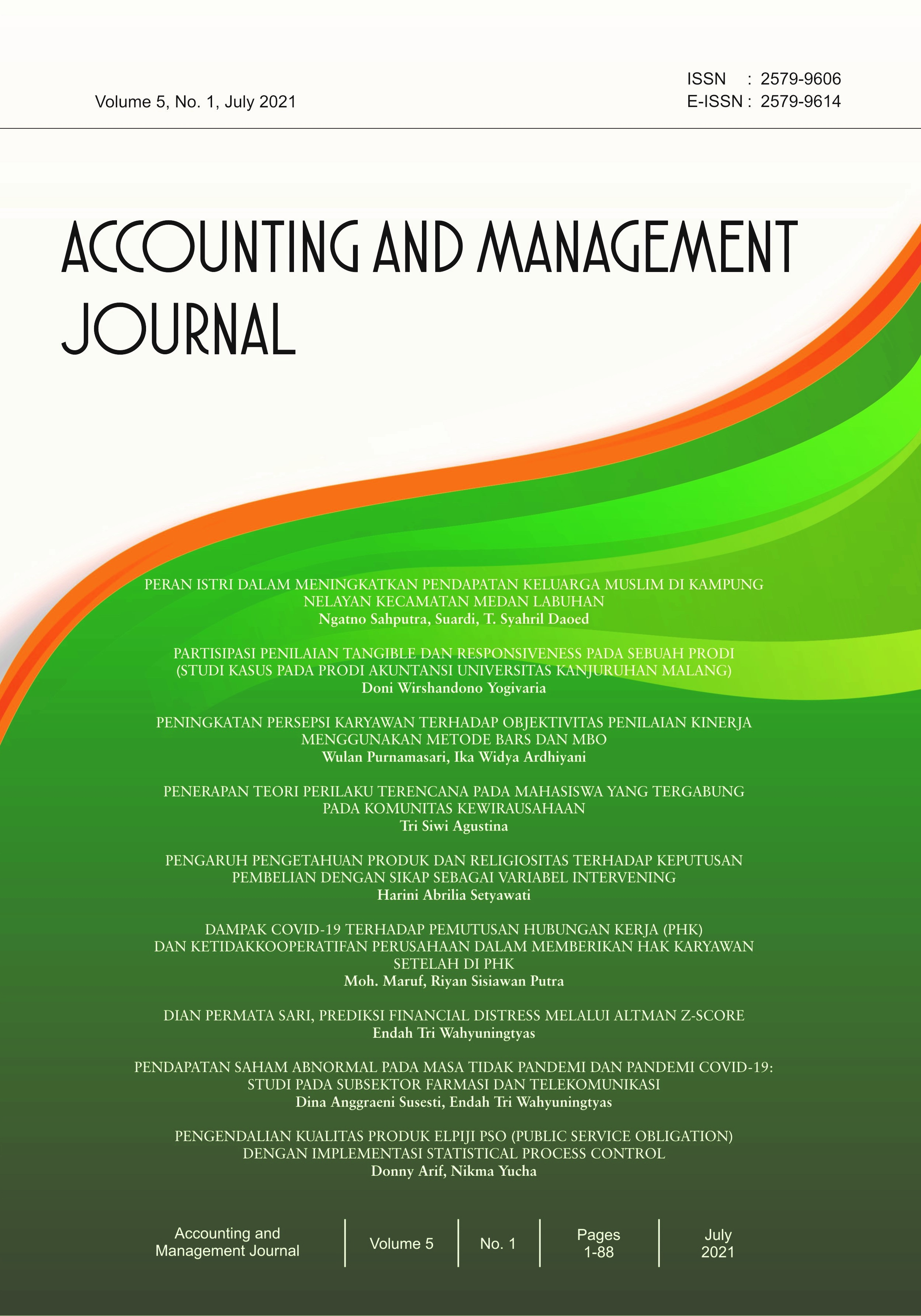 View Vol. 5 No. 1 (2021): Accounting and Management Journal